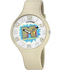 reloj mtv beige calypso