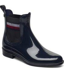 corporate elastic rainboot shoes chelsea boots svart tommy hilfiger