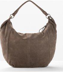 borsa shopper in pelle (marrone) - bpc selection