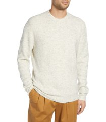 men's french connection aries fisherman sweater, size xx-large - beige