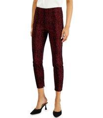 alfani petite jacquard pants, created for macy's