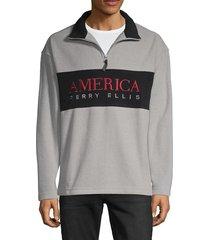 perry ellis men's long-sleeve sweatshirt - heather grey - size m