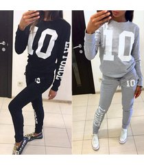 women fashion suit set women jogging suits pants sportswear casual tracksuit