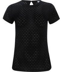 camiseta mujer en blonda color negro, talla 10