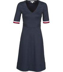 korte jurk tommy hilfiger punto milano v-neck dress ss
