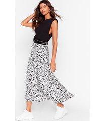 womens caught in the spotlight dalmatian maxi skirt - white