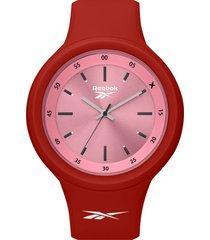 reloj  warm up women rojo reebok