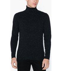 premium by jack & jones jpraiden knit roll neck tröjor svart