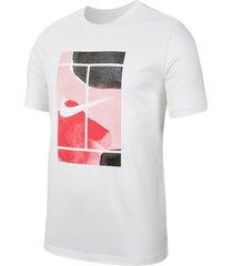 camiseta de tenis nike court para hombre - blanco