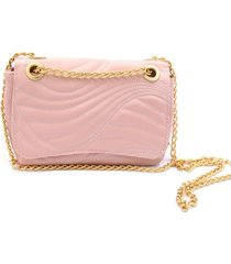 bolsa transversal maria milão minibag matelassê rosa - kanui