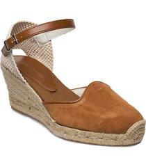 espadrille flat sandalette med klack espadrilles brun ilse jacobsen