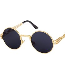 donne classic occhiali da sole rotondi steampunk gothic travel casual metal frame uv400 occhiali
