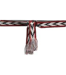 isabel marant woven tie waist belt - red