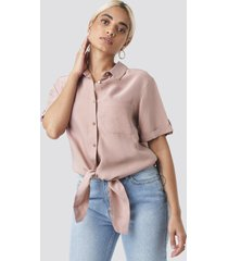 trendyol button detailed blouse - pink
