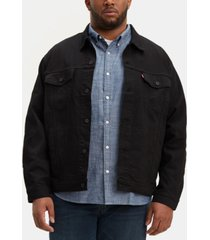 levi's men's big & tall stretch denim trucker jacket