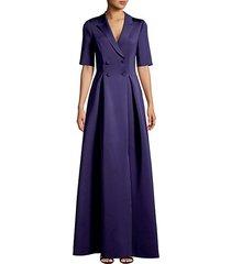 short-sleeve sateen jacket dress