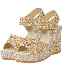 un diseño encantador zapatos de mujer verano zapato abierto cabeza de pescado tacones sandalias de cuña