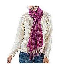 alpaca blend scarf, 'attractive woman' (peru)