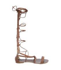 sandália feminina gladiadora - marrom