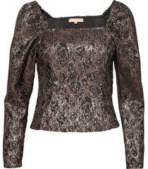 srwilhelmina ls top blouse lange mouwen bruin soft rebels