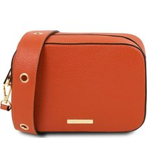 tuscany leather tl141733 tl bag - borsa a tracolla in pelle brandy