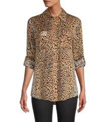 le superbe women's cheetah-print walking safari shirt - cheetah print - size 4