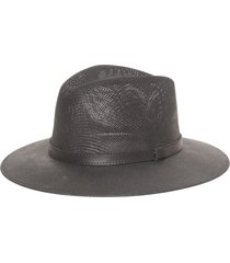black panama hat with black band