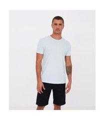 camiseta slim canelada | request | azul | gg