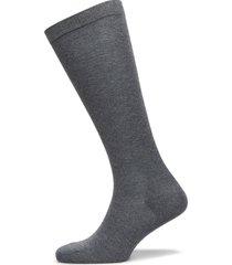 plain cotton knee socks lingerie socks regular socks grå mp denmark
