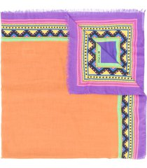 etro geometric print scarf - purple