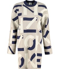 kenzo jacquard knit mini-dress