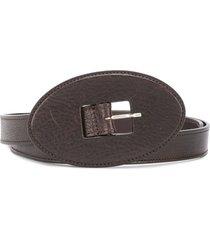 gianfranco ferré pre-owned 2000s oval buckle belt - brown
