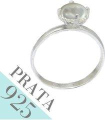 anel madreperola grande de prata 925 kumbayá joias