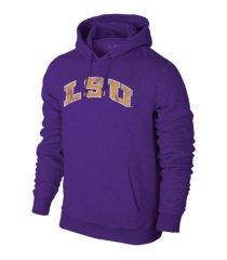 retro brand lsu tigers men's screenprint big logo hooded sweatshirt