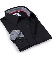 levinas men's tailored-fit dress shirt - black - size 14.5