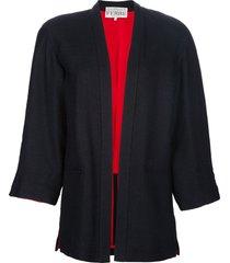 gianfranco ferré pre-owned skirt suit - blue