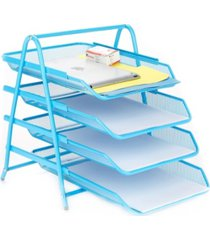 mind reader 4 tier paper tray desk organizer