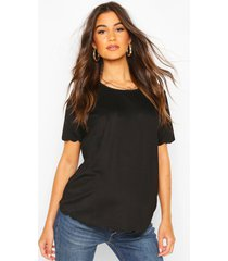 maternity scallop edge t-shirt, black