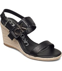 belora sandalette med klack espadrilles svart calvin klein