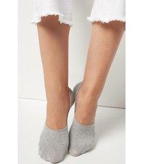 calzedonia unisex cotton invisible socks woman grey size 44-45
