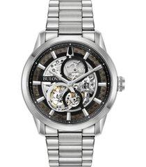 bulova men's automatic sutton stainless steel bracelet watch 43mm