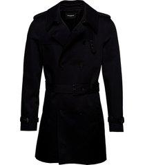 manteau trenchcoat lange jas zwart the kooples