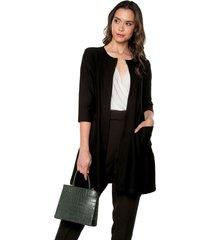abrigo negro. exss. careta