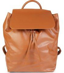 mansur gavriel men's leather drawstring backpack - moss