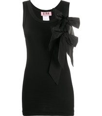 gina ribbed vest top - black