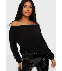 missguided off shoulder jumper stickade tröjor