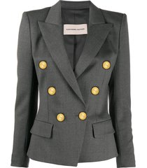 alexandre vauthier double breasted military blazer - grey
