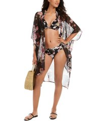 rachel rachel roy cherry blossom floral-print kimono cover-up women's swimsuit