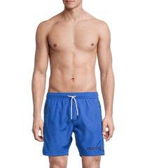 roberto cavalli men's beachwear drawstring boardshorts - bluette - size l