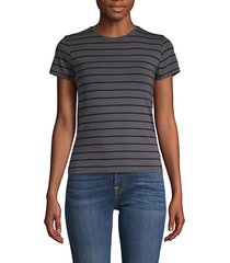 striped stretch-cotton tee